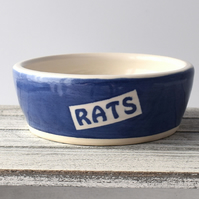 A168 Pet rat bowl RATS (UK postage free)
