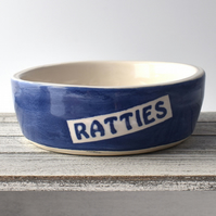A170 Pet rat bowl RATTIES (UK postage free)