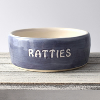 A173 Pet rat bowl RATTIES (UK postage free)