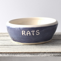 A174 Pet rat bowl RATS (UK postage free)