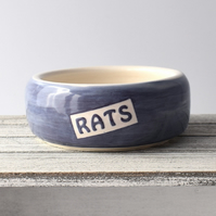 A177 Pet rat bowl RATS (UK postage free)
