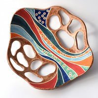 A179 - Ceramic river bowl  (Free UK postage)