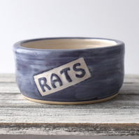A100 Pet rat bowl RATS (UK postage free)