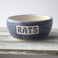 A96 Pet rat bowl RATS (UK postage free)