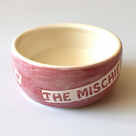 A175 Pet rat bowl THE MISCHIEF (UK postage free)
