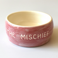 A176 Pet rat bowl THE MISCHIEF (UK postage free)