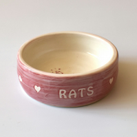 A184 Pet rat bowl RATS (UK postage free)