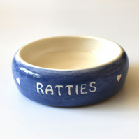A186 Pet rat bowl RATTIES (UK postage free)