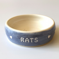 A188 Pet rat bowl RATS (UK postage free)