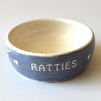 A190 Pet rat bowl RATTIES (UK postage free)