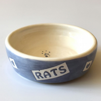 A191 Pet rat bowl RATS (UK postage free)