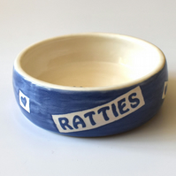 A192 Pet rat bowl RATTIES (UK postage free)