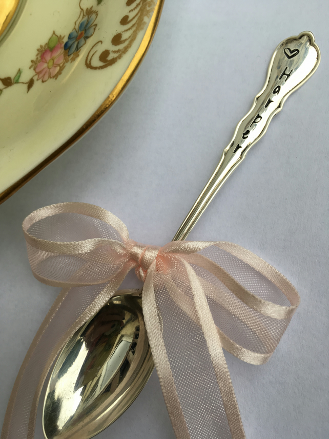 Personalised Antique silver spoons