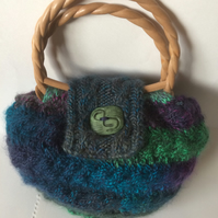 Unique hand-knitted bag