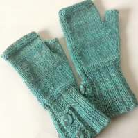 Hand-dyed fingerless gloves