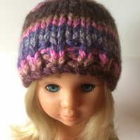 Multicoloured youthful beanie