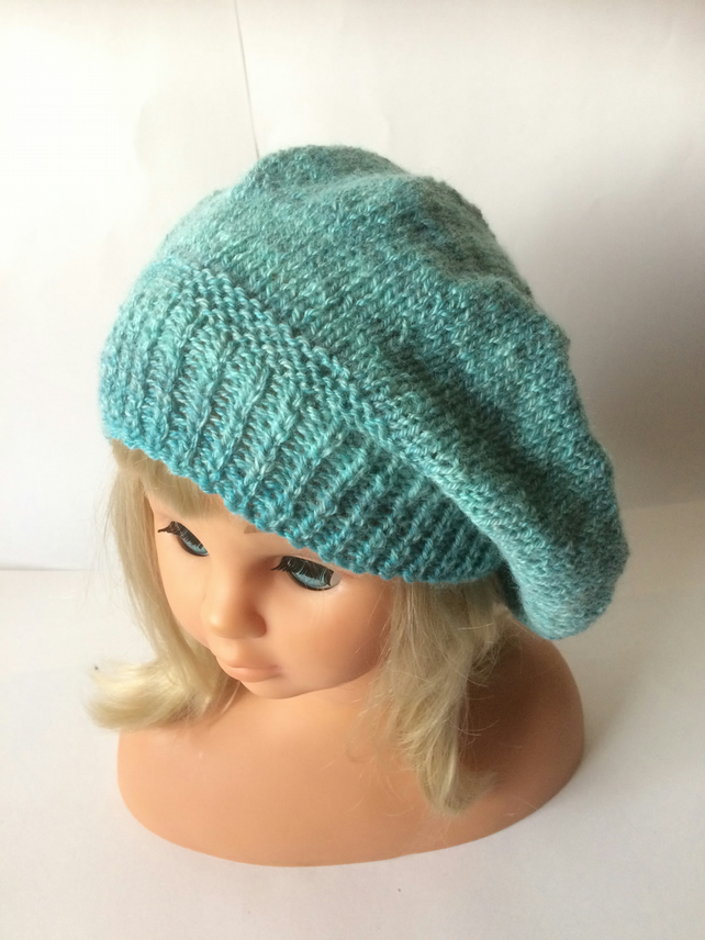Hand-dyed beret