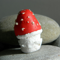 Mushroom clay desktop handmade sculpture small handmade polymer clay