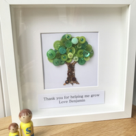 Framed TREE button artwork