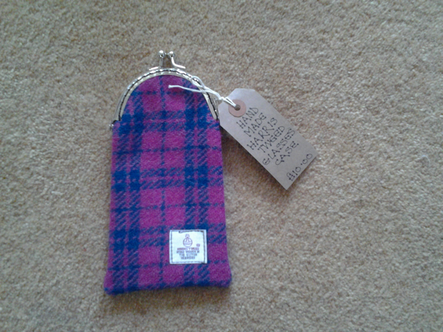 Harris Tweed Wool Glasses Purse