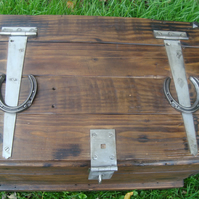 Handcrafted wooden trunk made from reclaimed timber