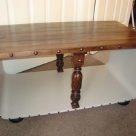Handmade bench or table with storage under