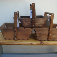 Handmade strong wooden trugs