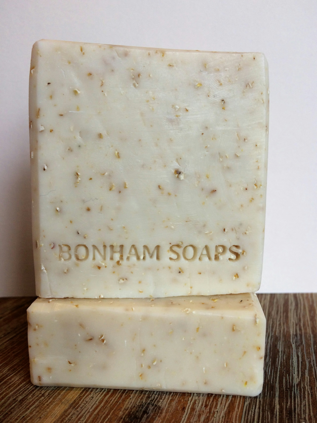Lemon, Oats and Honey Handmade Soap. Made in the UK