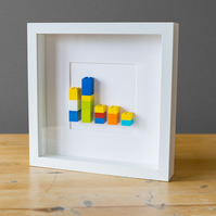 "Minimalist Brick Picture Frame: ""Dysfunctional Family"""