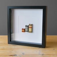 "Minimalist Brick Picture Frame: ""Mouse Cat Dog"""