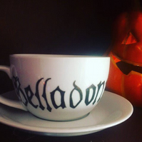 Witch's Poison Teacup and Saucer, Belladonna