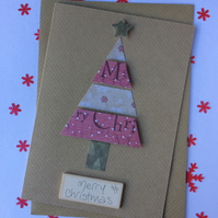2D Effect Christmas Tree Card