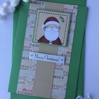 Cute Father Christmas Greeting Card