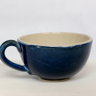 Handmade Cappaccino Cup in pearl, Taurus Blue or Teal.