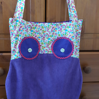 Ollie Owl tote bag - Purple