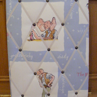 FAB Handmade Fabric Memo Board in Roald Dahl BFG with Cream Elastic Straps