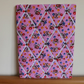 Monkey Memo Board in Pink Monkey Fabric with White Elastic Straps