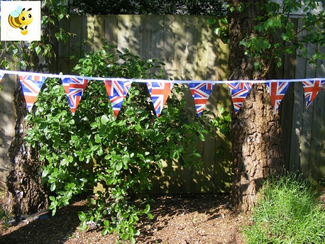 4m UNION JACK PVC Wedding Handmade Bunting PVC BUNTING Street Party Fete