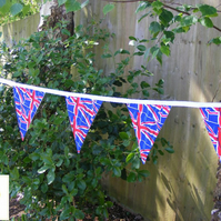 5m Handmade UNION JACK Bunting FABRIC BUNTING Wedding Street Party Fete