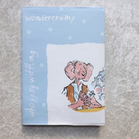 192 Page A5 Notepad with handmade lined notepad cover - Roald Dahl BFG