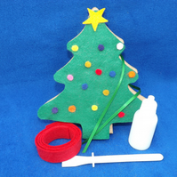 Easy, Fun, Unique standing Christmas Tree Craft Kit Green Christmas Tree