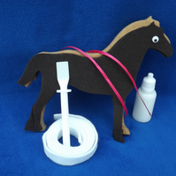 Easy, Fun, Unique standing Horse Craft Kit Horse Craft Kit Brown Horse