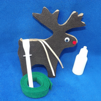 Easy, Fun, Unique standing Reindeer Craft Kit Reindeer Craft Kit Brown Reindeer