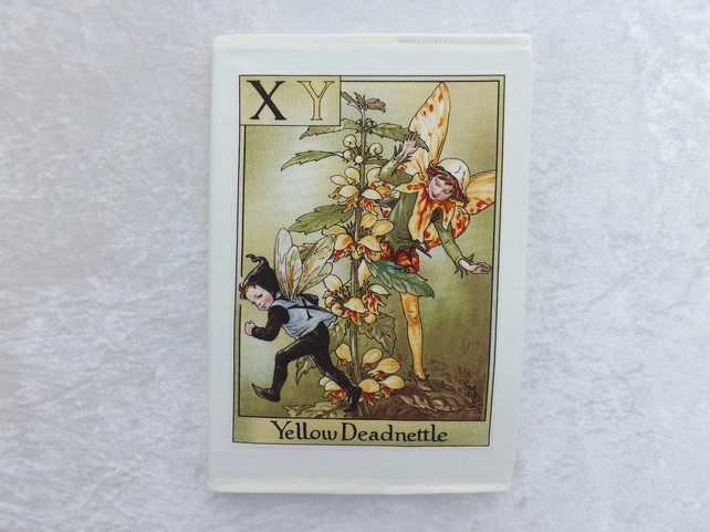 192 Page A5 Notepad handmade lined notepad cover XY Flower Fairy, Deadnettle