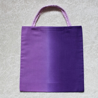Little Tote Bag in Beautiful Purple Ombre Fabric Mauve and Purple Fabric
