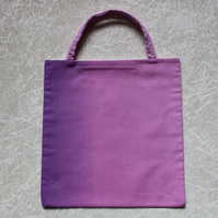 Little Tote Bag in Beautiful Pink Ombre Fabric Pink and Mauve fabric
