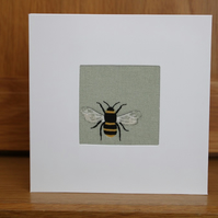 Handmade Fabric Card in Sophie Allport Bee fabric Bees fabric