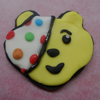 Pudsey Cupcake edible toppers Children in need