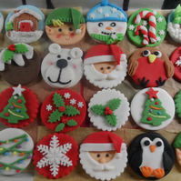 Edible Christmas Cupcake Toppers