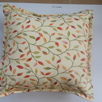 Red, green  and cream cushion